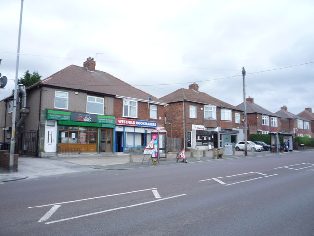 Shops on Old Durham Road, Sherrif Hill, Gateshead