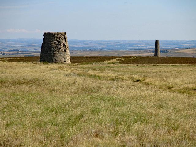The Allendale lead smelting flue chimneys