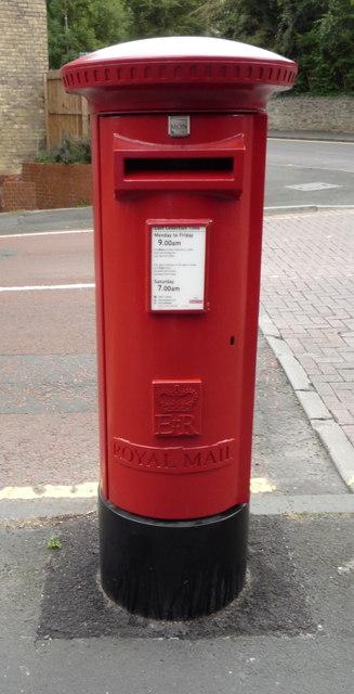 Elizabeth II postbox on Dryden Road
