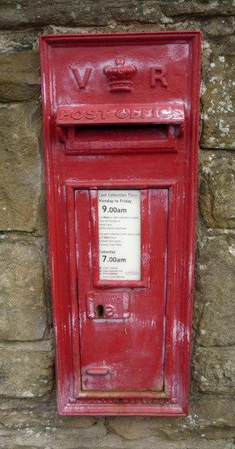Victorian postbox on Rockcliffe Way, Eighton Banks