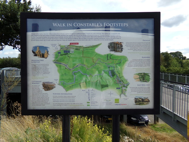 Walk in Constables Footstep sign