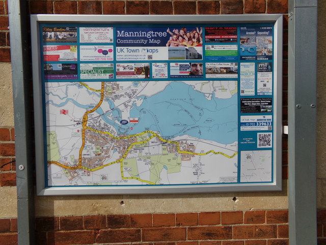 Manningtree Map at Manningtree Railway Station