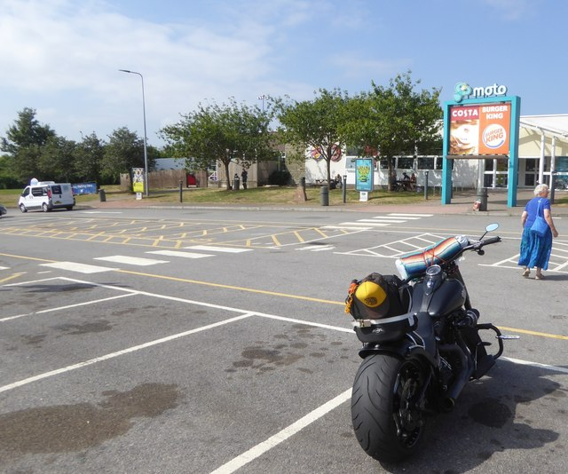 Car park for Severn View motorway services
