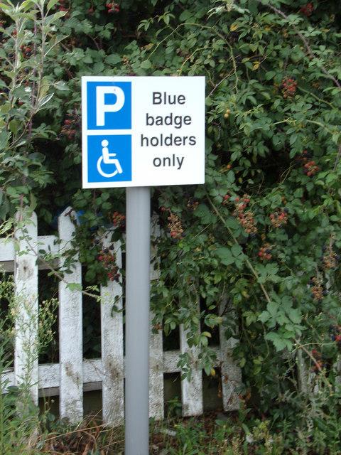 Blue Badge Holders sign