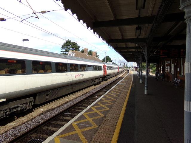 Train No.90008 at Manningtree Railway Station
