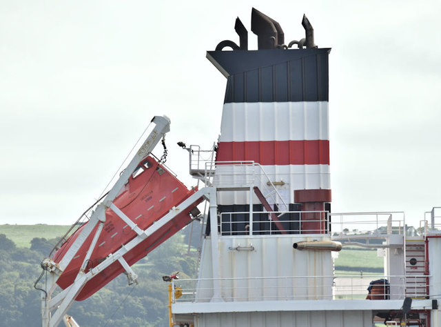"The ""Arsland"" (funnel and lifeboat), Belfast (August 2018)"
