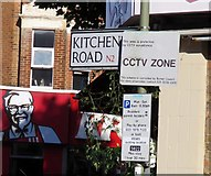 TQ2789 : Kitchener Road signs new style by Andrew Tatlow