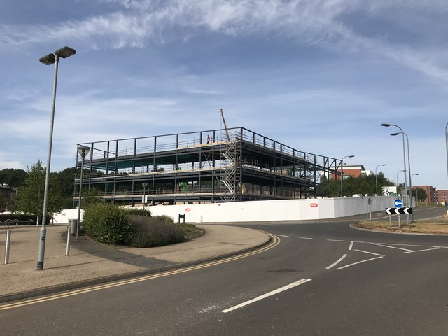 New buildings under construction at Keele University