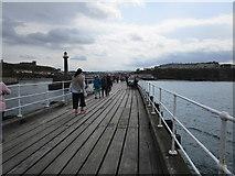 NZ8911 : On the west breakwater, Whitby by Jonathan Thacker