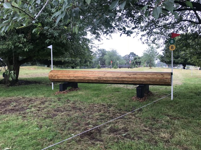 Cross-country fences at Cholmondeley Castle Horse Trials