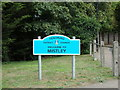 TM1131 : Welcome to Mistley sign by Adrian Cable