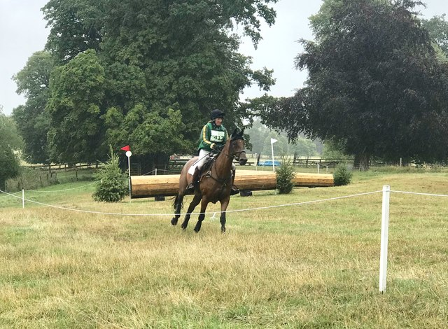On the cross-country at Cholmondeley Horse Trials