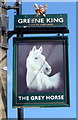 NZ4061 : Sign for the Grey Horse, Whitburn by JThomas