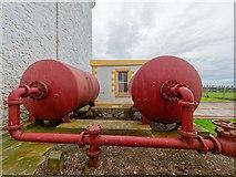 NJ9967 : Air Receivers Kinnaird Head Lighthouse Museum by valenta