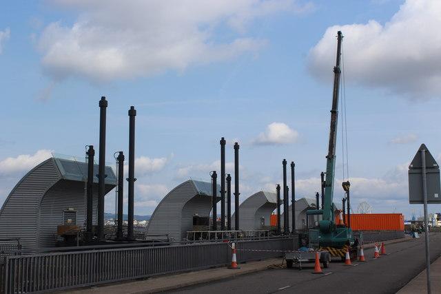 Repairs to sluice, Cardiff Bay Barrage