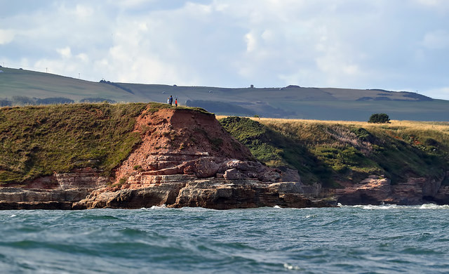 Walkers at Sharpers' Head on the Berwickshire Coast