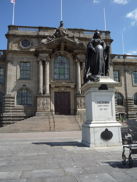 Queen Victoria statue outside the town hall, South Shields
