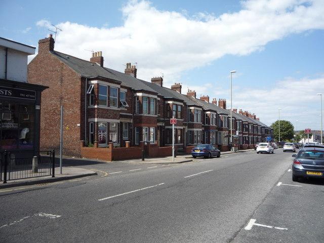Houses on Imeary Street, South Shields