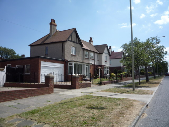 Houses on King George Road, South Shields