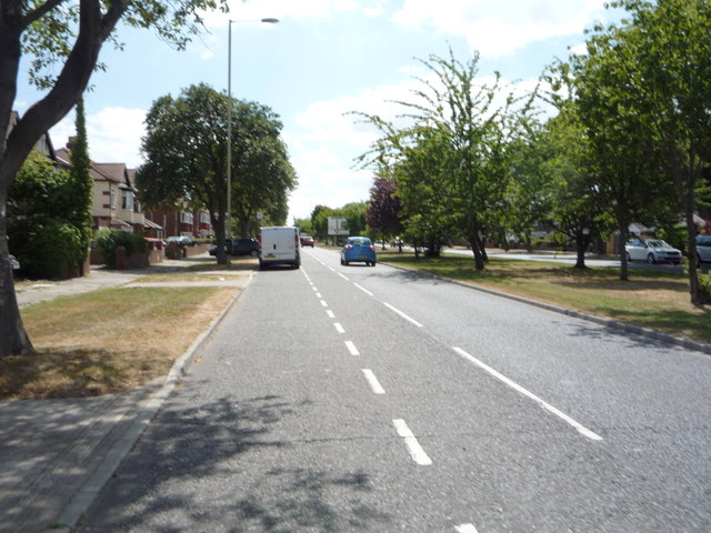 Looking south on King George Road, South Shields