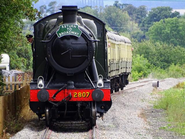 Train from Cheltenham to Broadway, Gloucestershire and Warwickshire Steam Railway
