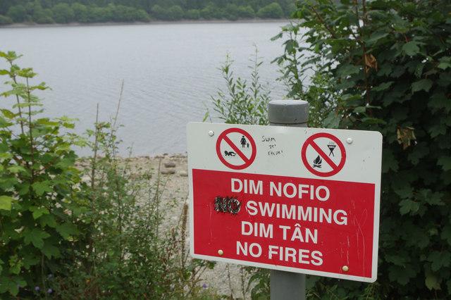 No swimming, no fires at Lake Vyrnwy