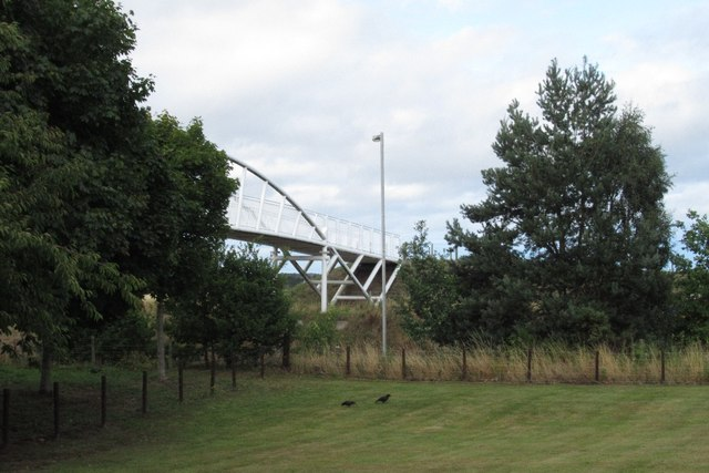 Path bridge over the Forres bypass