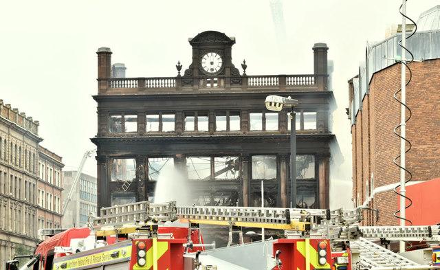 Primark (Bank Buildings) fire, Belfast - August 2018(2)