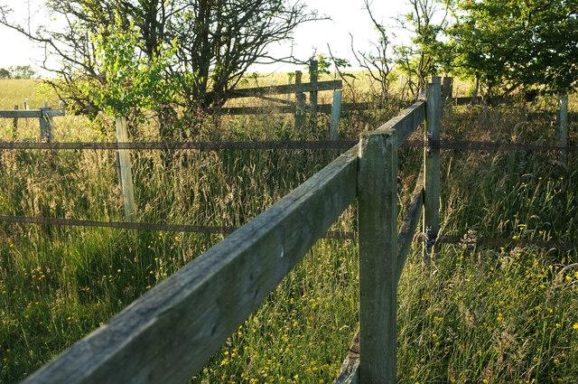 Fences near Oak Bank Farm