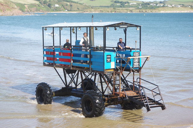 Sea tractor, Burgh Island