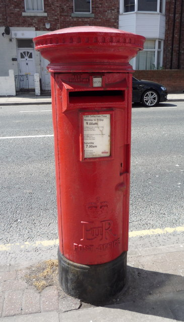 Elizabeth II postbox on Boldon Lane