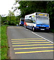 SO4810 : Two Stagecoach buses leaving Mitchel Troy, Monmouthshire by Jaggery
