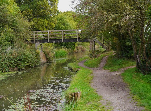 Footbridge over restored section of the Wilts & Berks Canal, Royal Wootton Bassett, Wilts
