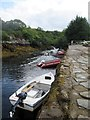 NG7873 : Small  boats  tied  up  at  the  jetty  Badachro by Martin Dawes