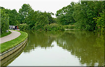 SP6989 : Canal approaching Foxton Locks in Leicestershire by Roger  Kidd