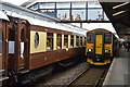 SW8144 : Charter train and GWR train at Truro Station by N Chadwick