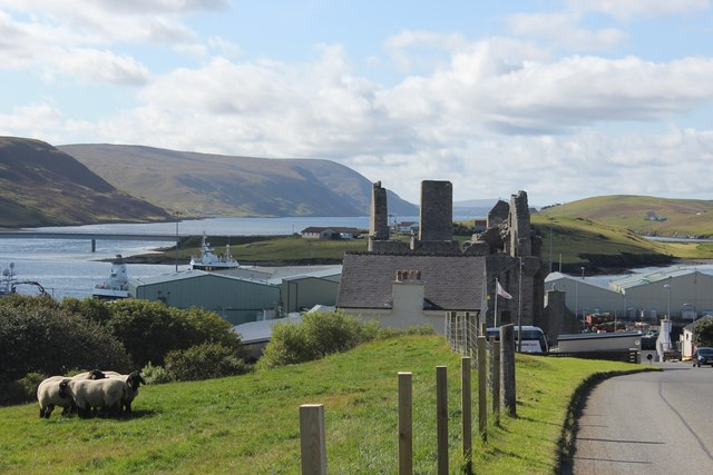 Scalloway Castle and the East Voe of Scalloway