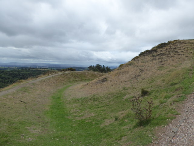 The ditch on Millennium Hill in the Malverns