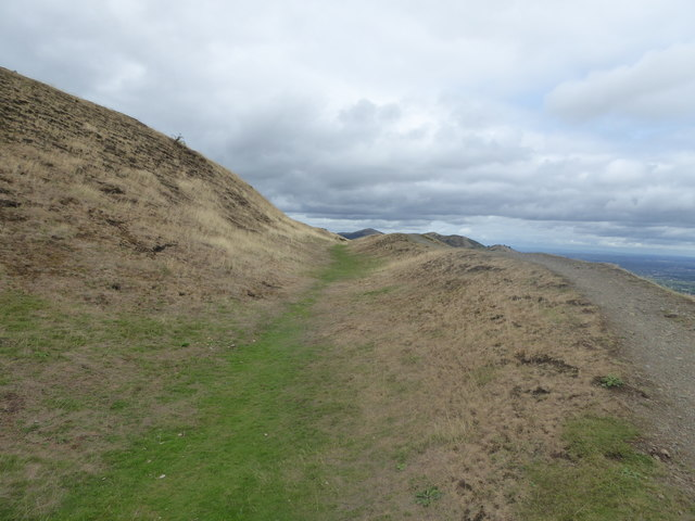 The hillfort ditch on Millennium Hill in the Malverns