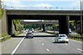 SO9673 : Motorway Bridges at M42 Junction 1 by David Dixon