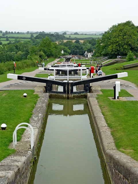 Staircase locks at Foxton in Leicestershire