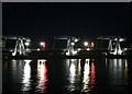 ST1972 : Cardiff Bay Barrage by night by Alan Hughes