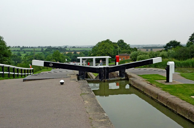 Foxton Top Lock in Leicestershire