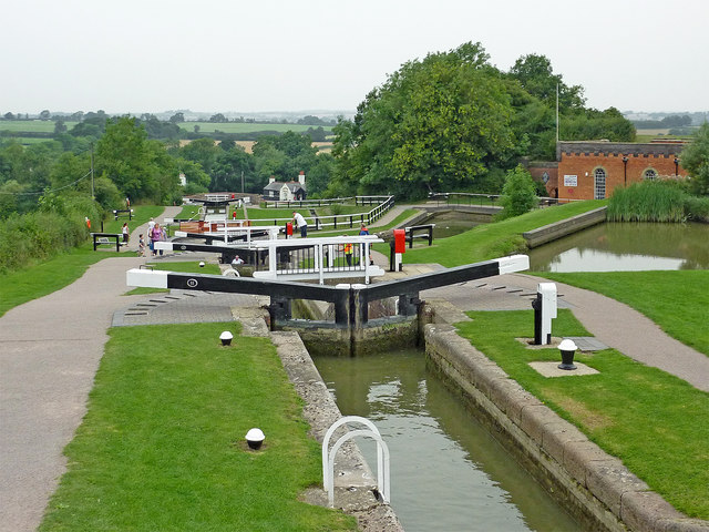 Foxton Staircase Locks in Leicestershire