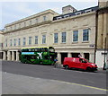 ST7564 : Air Decker double-decker bus and Royal Mail van, Dorchester Street, Bath by Jaggery