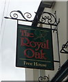 NZ2233 : Sign for the Royal Oak Inn, Byers Green by JThomas