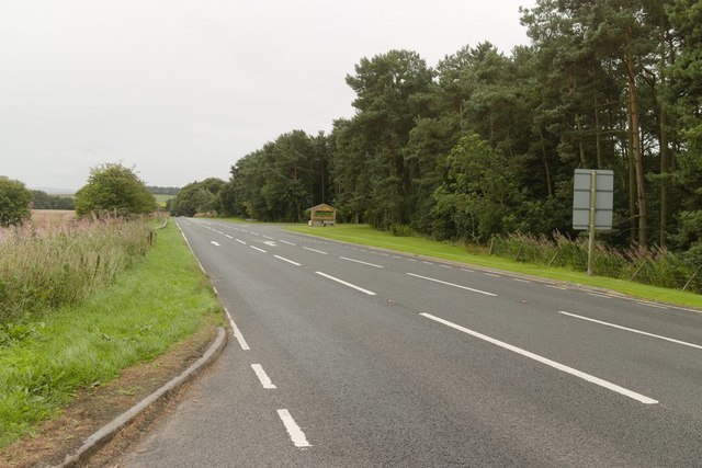 A68 near Lilliardsedge Holiday Park and Golf Course