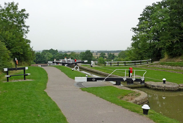 Lock No 13 at Foxton in Leicestershire