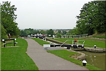 SP6989 : Lock No 13 at Foxton in Leicestershire by Roger  Kidd