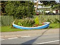 NH1295 : Boat as planter by Oliver Dixon